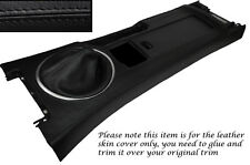 BLACK STITCH CENTRE CONSOLE & GEAR GAITER SKIN COVERS FITS MAZDA MX5 MK3 05-13