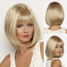 Blonde Wig Silky Straight Short CLASSY Bob style Synthetic wigs Charming