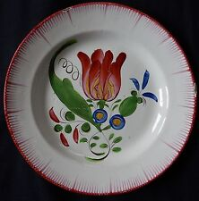 B157) Assiette ancienne faïence de l'EST (LES ISLETTES? ST CLEMENT?) Bouquet