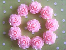 10 x Resin Rose Flower Embellishment Crafts Decoden Cabochon 20mm *UK Seller*