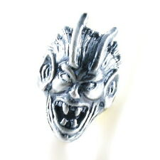 RING ghost SKULL monster pirate silver argent gray solid ONE SIZE LARGE spirit