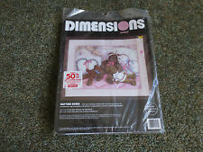 "1994 Dimensions NAPTIME BEARS Crewel Embroidery SEALED Kit #1445 - 16"" x 12"""