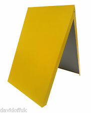 A-BOARD PAVEMENT SIGN,ADVERTISING,MENU,SANDWICH BOARD, METAL FRAME, YELLOW