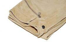 Ralph Lauren Black Label Mens Suede Leather Moto Pants Brown Beige Tan 30/32