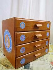 Sajou Wooden Haberdashery Chest Sewing Box- 4 Drawers