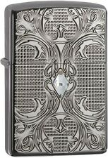 Zippo 28956 Crystal Armor Black Ice 2015/2016 Choice Catalog Lighter NEW