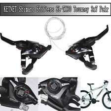 KETNET Shimano Set 3 x 7Speed Shifter/Brake Lever Combo (21 Speed) Black V-Brake