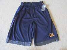 NEW MEN'S CAL GOLDEN BEARS ATHLETIC GYM BASKETBALL SHORTS DARK BLUE SMALL