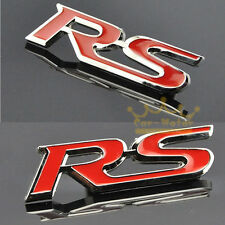 New RS Racing Sports RS Sticker Red 3D Chrome Badge Logo Sticker Car & Bike