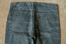 TRUE RELIGION PANTALON JAIME Jeans 32X33 NWOT$329 Blackish Tie-Dye-Logo-Straight