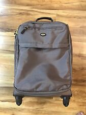 """Bric's Tan Brown X-Travel 21"""" Carry On Spinner 4 Wheeled Luggage 21""""X8""""X14"""""""