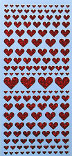 HEARTS DIAMOND SHIMMER HOLOGRAPHIC PEEL OFF STICKERS VARIOUS COLOURS