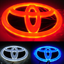 4D Car Led Real Logo Light Auto Badge Emblems For TOYOTA COROLLA CROWN YARIS