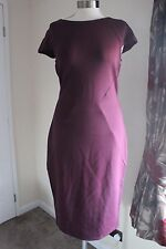 size 22 stunning purple body con dress marks and spencer brand new