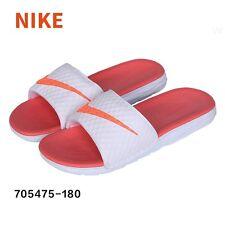 NWT Women's NIKE Benassi Solarsoft Slide Sandals White & Mango size 8 NWT slides