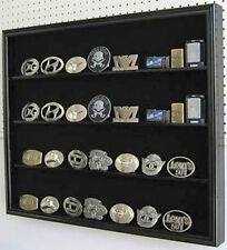 Belt Buckle display Case Wall Frame Cabinet, UV Protection, LOCK , BC02-BLA