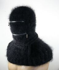 Extremly fuzzy thick Mohair Hand Knitted  sweater BALACLAVA