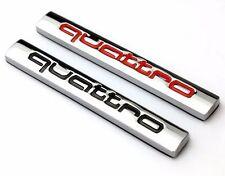 1 argent/noir audi quattro logo decal/badge/autocollant/adhésifs/R8/R7/RS/A3/A4/A6