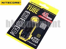 NiteCore TUBE Rechargeable Mini USB Charge LED Pocket Keychain Flashlight Black