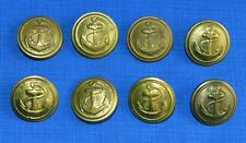 Bulgarian NAVY Marine Parade UNIFORM Brass BUTTONS 8 Pcs.
