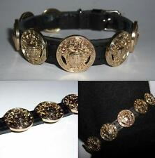 VERSACE ALL GOLD MEDUSA HEAD DESIGNER PUPPY/SMALL DOG/CAT COLLAR-BRAND NEW BLING