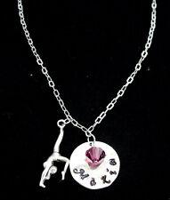 Gymnastics Custom Necklace Gymnast Personalized Jewelry Gymnastics Name Necklace