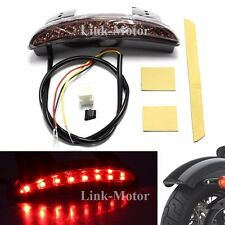 RED BRAKE TAIL LIGHT LED LICENSE PLATE MOTORCYCLE FOR BOBBER CAFE RACER CLUBMAN