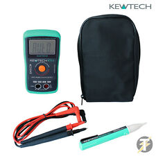 Kewtech KT111 True-RMS Digital Multimeter with Kewstick Uno Voltstick and Case