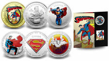 2013 Superman 75th Anniversary 7 Coins Complete Set w/ $75 14-Kt. Gold Canadian