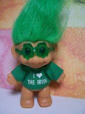 """I LOVE THE IRISH - 3"""" Russ Troll Doll - LAST NEW ONES - Rare"""