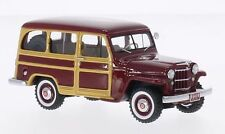 "Willys Jeep Station Wagon ""Dark Red/Wood"" 1954 (NEO 1:43 / 44644)"