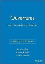 Ouvertures, Workbook/Lab Manual: Cours Intermediaire de Francais, Storme, Julie