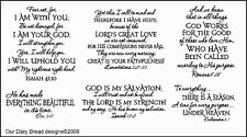 Our Daily Bread Designs Cling Stamp Set Scripture Collection 1 Bible Verses