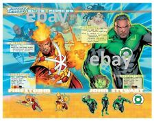 JUSTICE LEAGUE ELITE FORCES MODEL SHEET - FIRESTORM & GREEN LANTERN PRINT DC