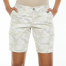NWT Women's size 10 SONOMA camo stretch cotton bermuda cargo shorts