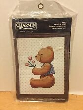 Charmin Maurice Bear Counted Cross Stitch Kit Boy Bear With Tulips Alma Lynne