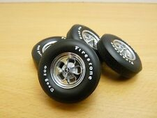 Set de 4 JANTES ROUES KEYSTONE DRAG Wheel FIRESTONE 1/18