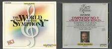 World of the Symphony 3 SEALED CDs Beethoven No.5  Mozart No.40 Dvorak No.9