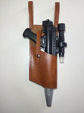 Star Wars Brown DH-17 LEATHER HOLSTER costume Prop fits blaster