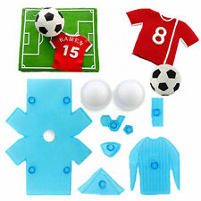 9pcs Football Shirt Cake Decorating Mold Embosser Icing Cutter Mould Sugarcraft