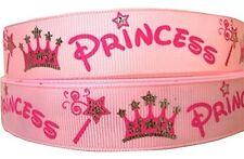"""1 metre Princess Pink ribbon 1"""" 25mm cake / craft"""