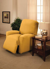 JERSEY RECLINER COVER-LAZY BOY ---YELLOW---  FITS MOST CHAIRS --FREE SHIPPING
