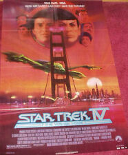 Cinema Poster: STAR TREK IV THE VOYAGE HOME 1986 (One Sheet V1) William Shatner