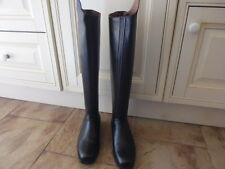 Sergio Grasso 5500 long leather riding boots black with zips size UK 6 EU 39