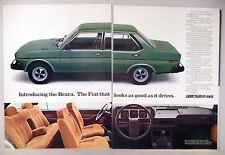 Fiat Brava 2-Page PRINT AD - 1978