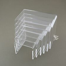 "Clear Acrylic 3/16"" Medium Rectangle 6 Piece Riser Set Display Stands Qty 1"