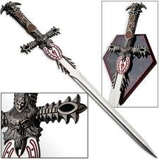 Underworld Demon Balrog Dagger Mini Claymore Sword w Plaque Fire Priestess Dovah