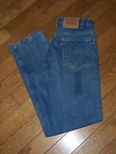 "NEW USA MEN'S LEVI'S 550 RELAXED FIT DENIM JEANS W 33"" L 32""  MEDIUM INDIGO BLUE"