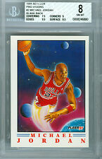 1991-92 FLEER # 2 MICHEAL JORDAN PROOF BGS 8  SOLO FINEST  1 OFF 50 MADE *