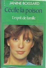 JANINE BOISSARD CECILE LA POISON